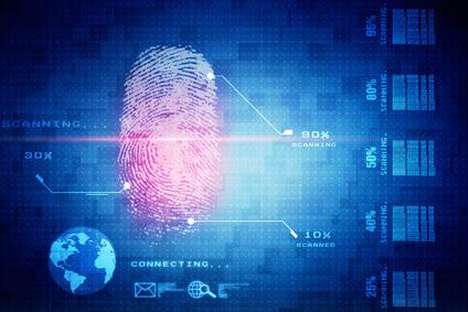 Fingerabdruck im Computersystem