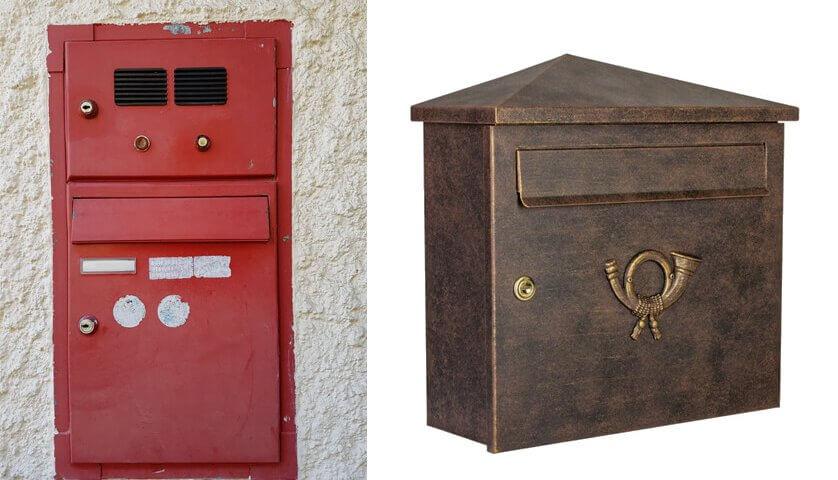 Briefkasten, alter Briefkasten, neuer Briefkasten