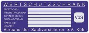 VDS, Verband der Sachversicherer, Zertifikat, Siegel