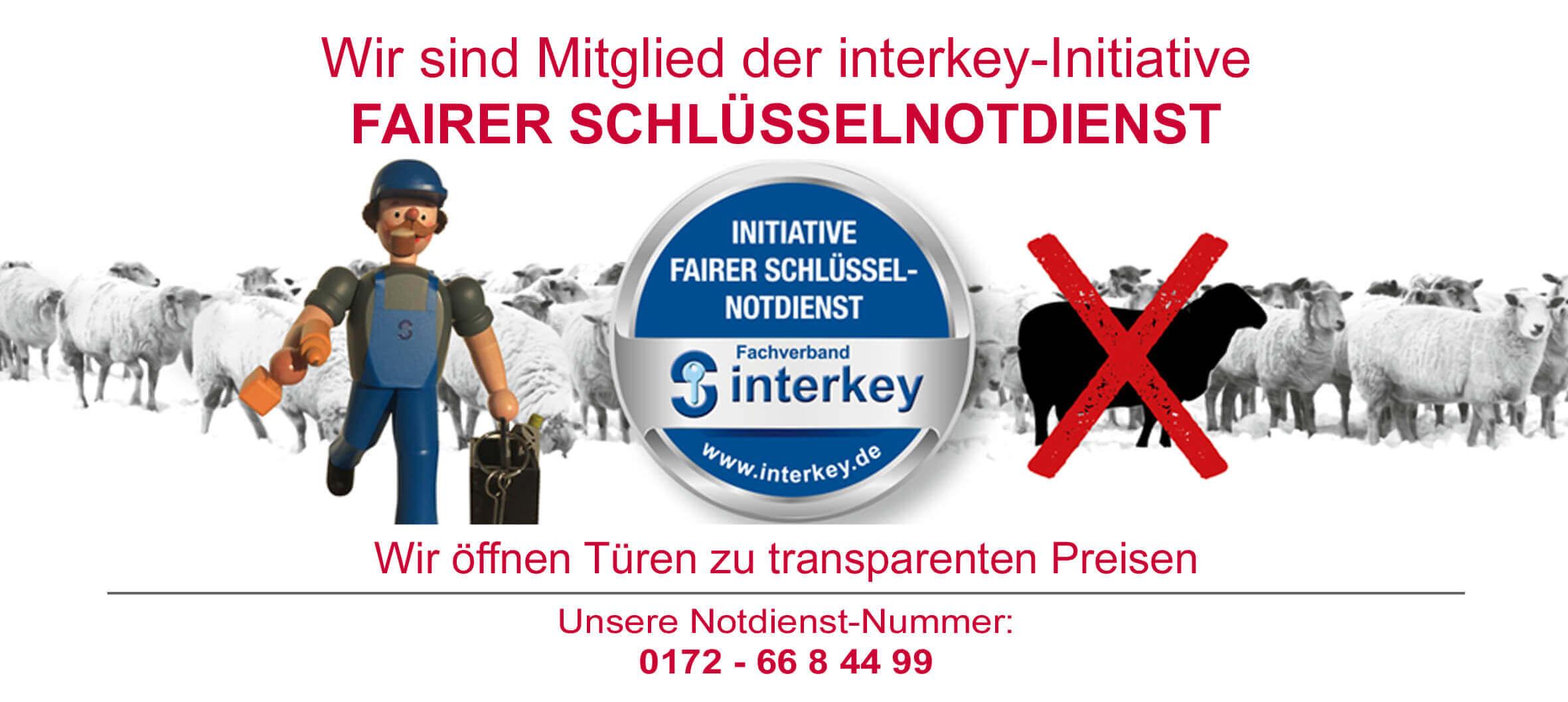 Wir sind Mitglied bei der Initiative Fairer Schlüssel-Notdienst