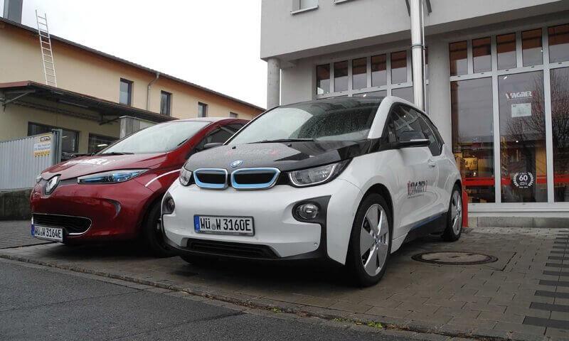 Renault Zoe, BMW i3, Wagner Sicherheit, Sicherheitstechnik, Elektromobilität, E-Autos bei KMU