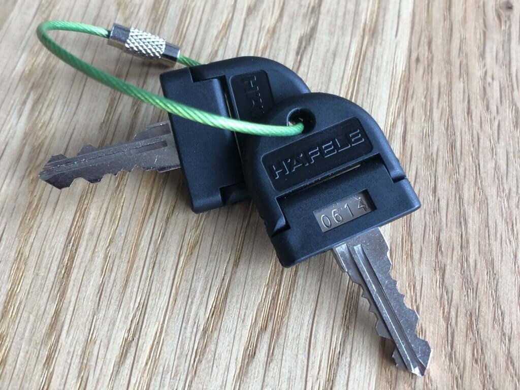 Ersatzschlüssel mit Schlüsselnummer